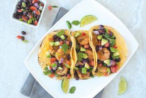 Shrimp and Black Bean Tacos