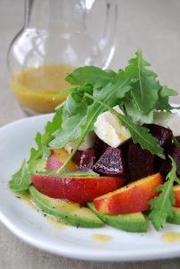 Roasted Beet and Nectarine Salad