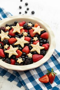 Red, White and Blue Berry Tart