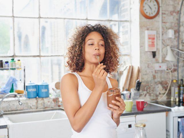 Woman enjoying a healthy snack