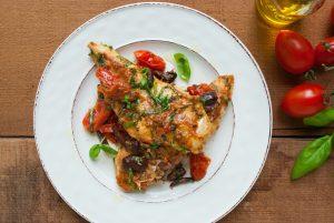 Mediterranean Chicken and Tomatoes