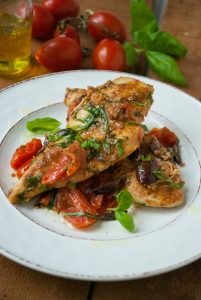 Mediterranean Chicken and Tomatoes