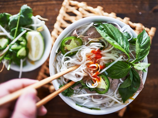 Beef Pho with Rice Noodles