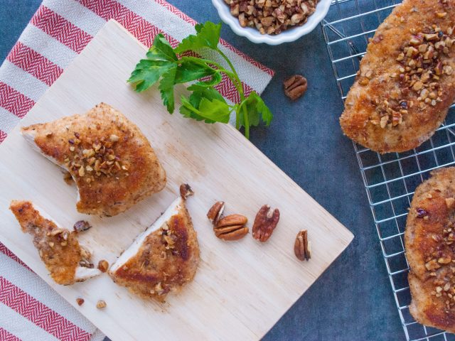 Pecan-Crusted Baked Chicken