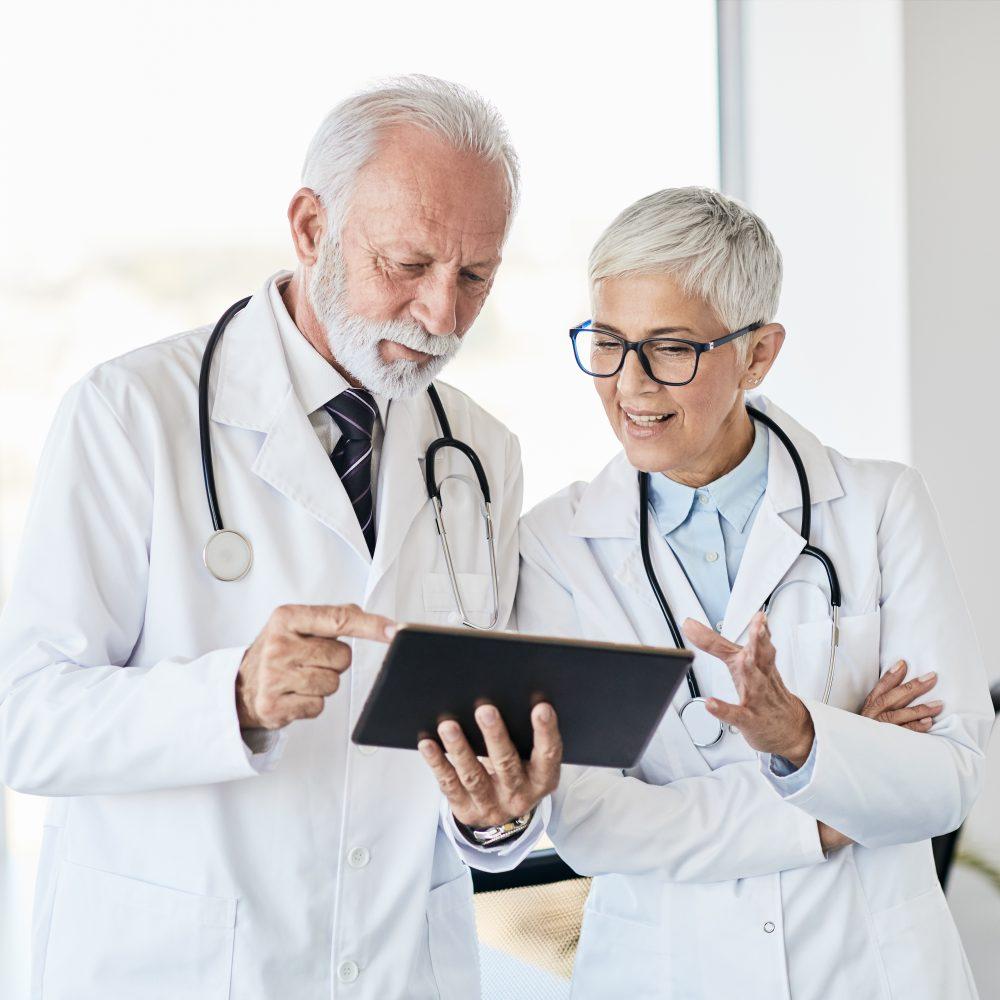 Doctors talking
