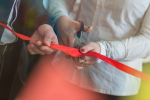 Opening ceremony with ribbon cutting